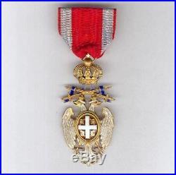 Serbie Ordre de l'Aigle Blanc avec épées 4ème classe