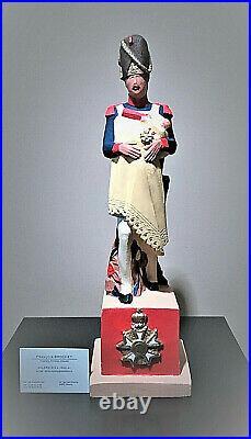 Statuette Francois BROCHET Jean-Roch Coignet 1e légion dHonneur Napoléon Empire
