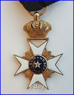 Suède Odre de l'Etoile Polaire, chevalier en or, époque 1830-1840