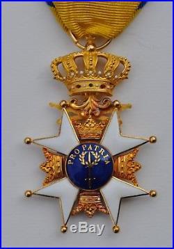 Suede Ordre Militaire de l'Epée, chevalier de 1ere classe en or
