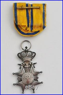 Suède Ordre Militaire de lÉpée, chevalier de 2eme classe en argent