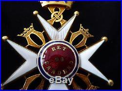 Suede Ordre de Saint Olaf commandeur type II 1906 EN OR