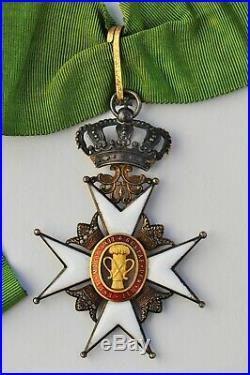 Suede Ordre de Vasa, croix de commandeur en vermeil, centres en or