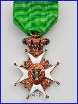 Suede Ordre de Vasa, officier en or, dans sa boite