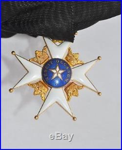 Suède Ordre de l'Etoile Polaire, ensemble de Grand Croix