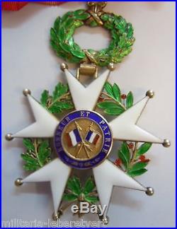 Superbe CROIX DE COMMANDEUR ARGENT VERMEIL LEGION d' HONNEUR IV° REP. ORIGINAL