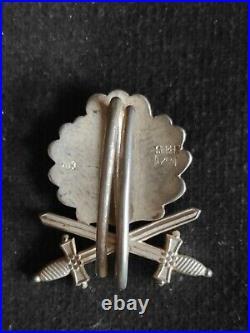 Superbe Feuilles de chêne + glaives de croix de Chevalier (Ritterkreuz) WW2