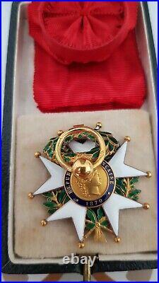 Superbe Legion d'Honneur 3ème République en OR Ouizille LEMOINE