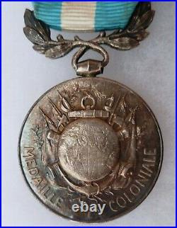 Superbe Médaille Coloniale Argent MADAGASCAR et AFRIQUE OCCIDENTALE FRANCAISE