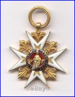 Superbe Ordre Croix De Saint Louis Or