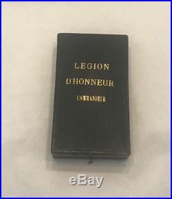 Superbe commandeur en or 18 carats de la Légion d'Honneur en ecrin
