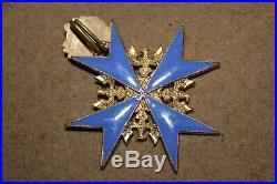 Superbe croix Pour le Mérite allemande avec feuilles de chêne fabrication ancien