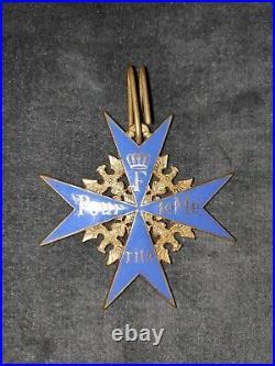 Superbe croix Pour le Mérite allemande fabrication ancienne de haute qualité