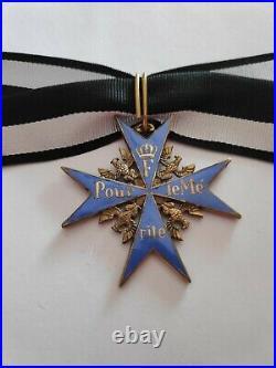 Superbe croix Pour le Mérite allemande fabrication ancienne haute qualité
