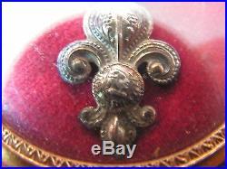Superbe medaille cadre reliquaire ordre du lys louis 18 1814