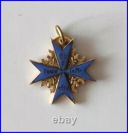 Superbe miniature croix Pour le Mérite allemande fabrication ancienne (20mm)