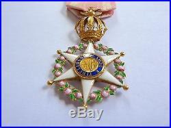 Superbe ordre de la rose de l'empire du Brésil en or Napoléon III
