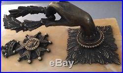 Superbe presse papier à la Légion dHonneur période 2nd Empire // Rare