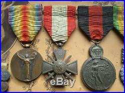 Superbe tableau de médailles Adjudant-Chef 1er régiment de tirailleurs tonkinois