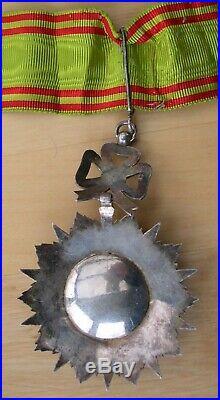TUNISIE COMMANDEUR ORDRE DU NICHAN IFTIKAR medaille
