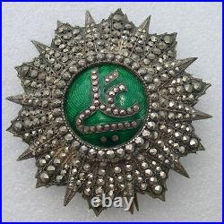 TUNISIE PLAQUE ORDRE NICHAN IFTIKAR medaille nicham ALI PACHA BEY 1882-1902