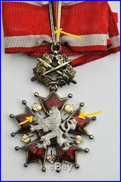 Tchécoslovaquie Ordre du Lion Blanc, croix de commandeur, à titre militaire