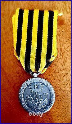 Très belle Médaille Commémorative Expédition du DAHOMEY 1892 en argent
