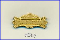 Très rare barrette en or pour médaille coloniale