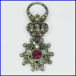 Très rare et belle médaille miniature de la légion dhonneur dépoque second emp