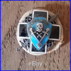 Très rare insigne Armée Blanche REGIMENT ELITE KORNILOV Russie imperial Russia