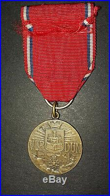 Très rare médaille de Verdun. Modèle Steiner. Bronze