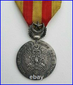 Tunisie Médaille de la police Tunisienne, argent