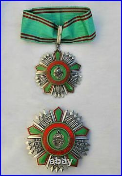 Tunisie Ordre de la République, ensemble de Grand Officier