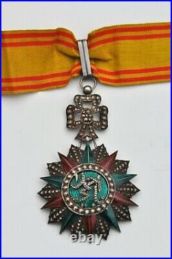 Tunisie Ordre du Nicham Iftikar, étoile de Commandeur, Ahmed II, 1929-1942