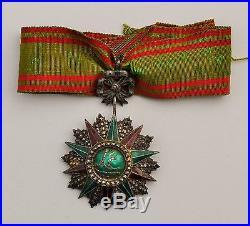 Tunisie Ordre du Nicham Iftikar, étoile de commandeur, Ali Bey, 1882-1902