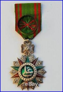 Tunisie Ordre du Nicham Iftikar, officier, trés belle fabrication ancienne