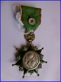 Turquie Empire Ottoman Officier Ordre de l' Osmanié (1861) Osmanye Argent