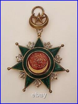 Turquie Ordre de l'Osmanié, bijoux de Grand Croix en vermeil, petits éclats