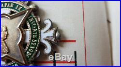VB106 Croix pectorale de chanoine du chapitre de POITIERS St Hilaire Pie IX