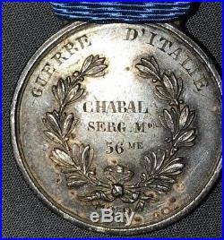 Valeur Militaire Sarde Guerre d'Italie 56 ème de ligne