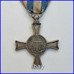 Vatican Croix de Mentana, modèle pour la troupe, parfait état, bon ruban ancien