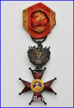 Vatican Ordre de Saint Grégoire, officier en vermeil, militaire, XIX° siecle