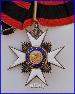 Vatican Ordre de Saint Sylvestre, croix de commandeur en vermeil