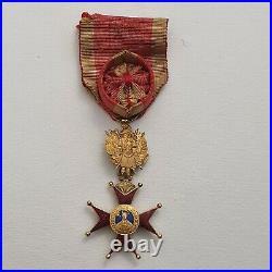 Vatican Ordre de St. Grégoire, officier en or, à titre militaire