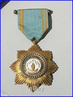 X11C Belle médaille coloniale Comores ordre de l'étoile d'Anjouan french medal
