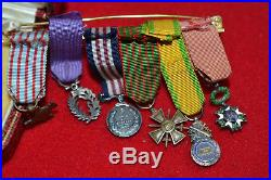 X3 Superbe portée de médailles en réduction de la guerre 14 18 FRENCH medal