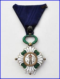Yougoslavie Ordre de la Couronne, chevalier en vermeil et émail